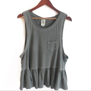 Free People We the Free for UO distressed Tank Top